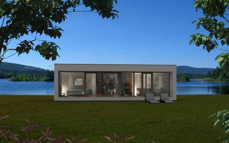 Maison préfabriquée contemporaine ossature bois à 2étages EK 001 ekokoncept, wooden  # Maison Bois Préfabriquée