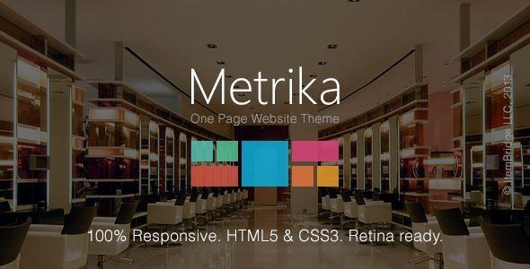 Download Metrika-Responsive OnePage WordPress Theme