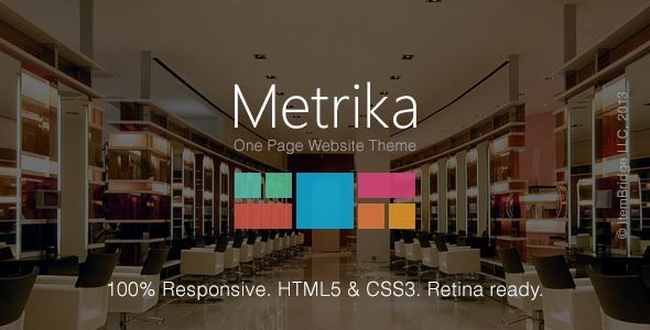 Download Metrika-Responsive OnePage WordPress Theme