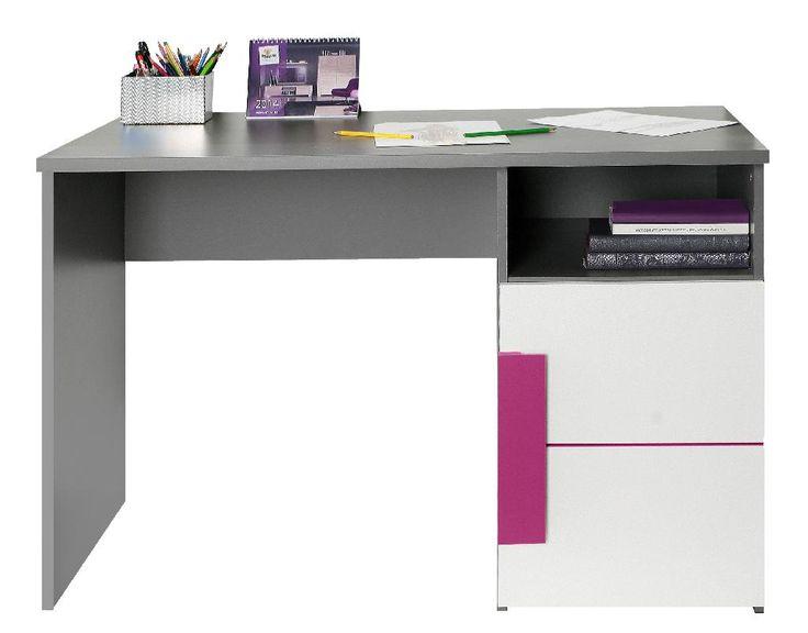 Schreibtisch Lillyfee mit wundervollen violetten Farbakzenten passend zum Kinder- und Jugendprogramm Lillyfee 1 x Schreibtisch mit 1 Türe und 1 offenen Ablagefläche... #schreibtisch #kinder #jugendzimmer