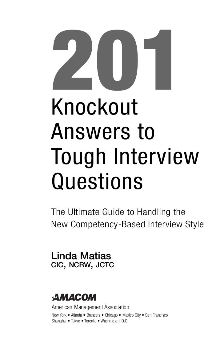 must see competency based interview questions pins teaching 201 knockout answers to tough interview questions