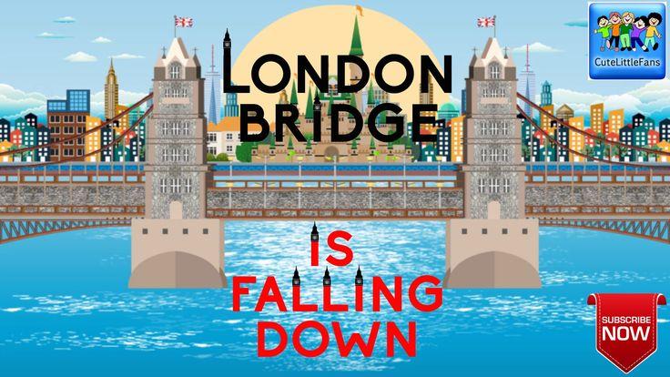 London Bridge Is Falling Down   Kids Songs   Nursery Rhyme Lyrics   Cute...