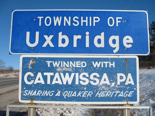 "Uxbridge, Ontario, Canada;  Twinned with Catawissa PA, USA - ""Quaker Heritage"" by mtlicq, via Flickr"