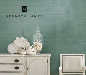teal-gray grasscloth This color might be my favorite