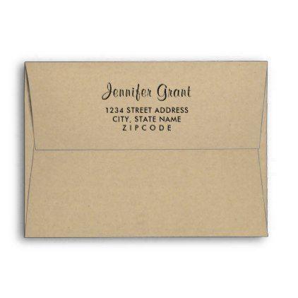 #5 x 7 Kraft Mailing Envelope with Return Address - #Wedding #Printed & #Mailing #Envelopes #weddinginvitations #wedding #invitations #party #card #cards #invitation