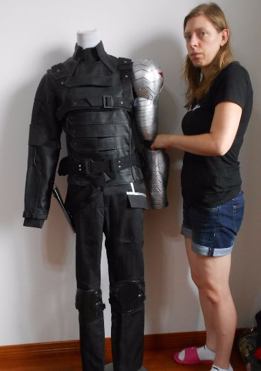 This is a Winter Soldier costume from Captain America. Please email me at cosplaymandy@gmail.com Follow me on Facebook https://www.facebook.com/pages/Cosplaymandy-commission/796902850375905?ref=aymt_homepage_panel #cosplay	#costume #Avengersmoviecostume #Avengers #BuckyBarnes #Wintersoldier #WinterSoldiercosplay #WinterSoldiercostume	#CaptainAmerica #CaptainAmericacosplay #CaptainAmericacostume #Marvel #marvelcosplay #marvelcostume #wintersoldierarmor	#wintersoldierarm #wintersoldierprop