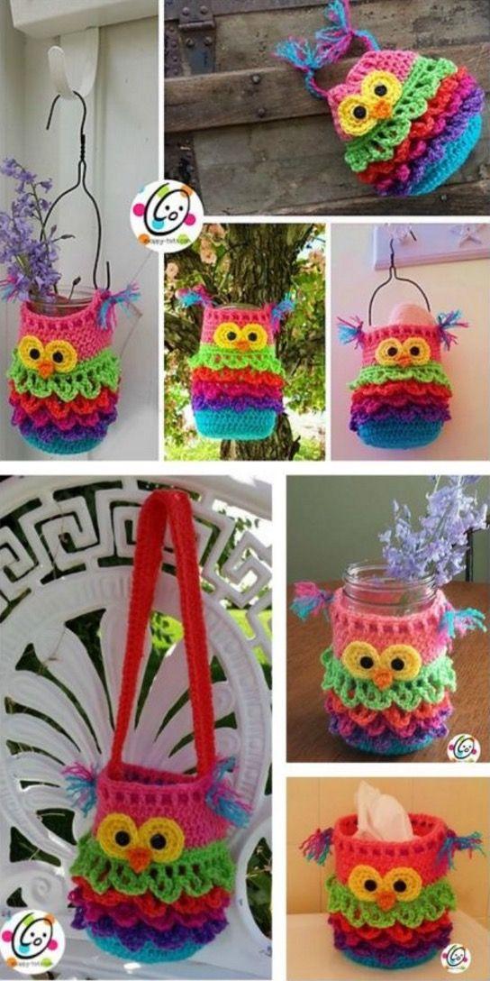 Crochet Hanging Basket Pattern Free - Easy Tutorial