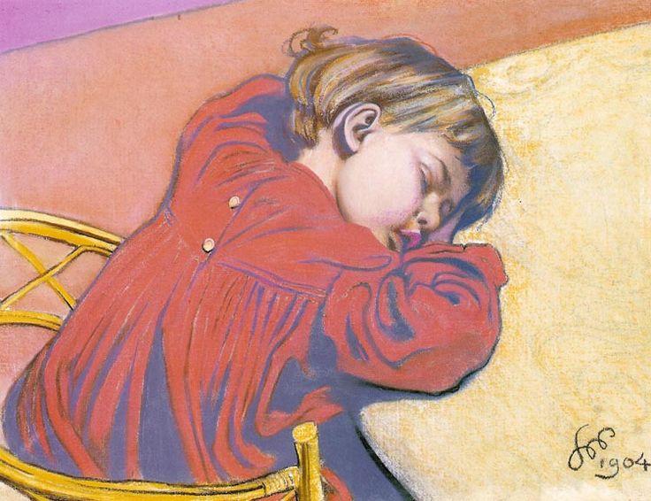 """Stanislaw Wyspianski  """"Sleeping Stas"""", 1904"""