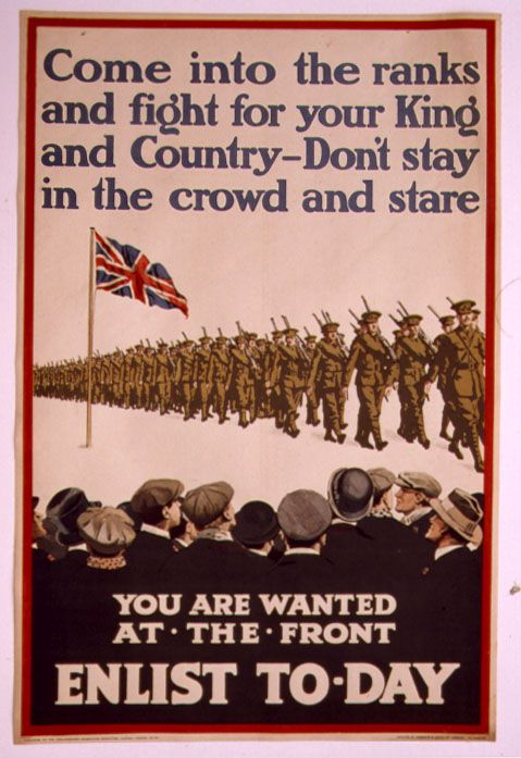 WW1 British recruitment poster