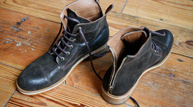 Handmade boots for men. Love them!