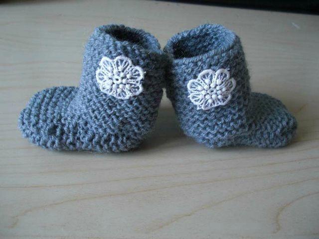 Chaussons tricotés (ultra facile)   Béa.BA Créations   Bloglovin'