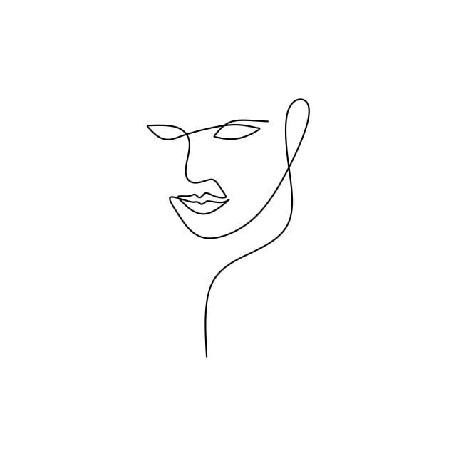 Abstract Face Continuous One Line Drawing Vector Illustration Minimalism Style On White Background Good For Poster Art And Wallpaper One Line Contouring Draw Line Drawing Minimal Drawings Line Art Vector