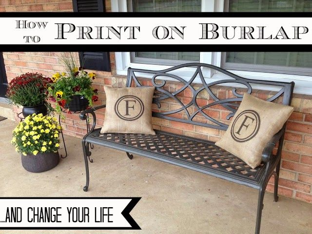 How-to-print-on-burlap!  Great for all kinds of burlap crafts!  #burlap #crafts