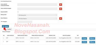 Nove Hasanah: Cara Menambahkan Data Riwayat Mengajar di PUPNS BK...