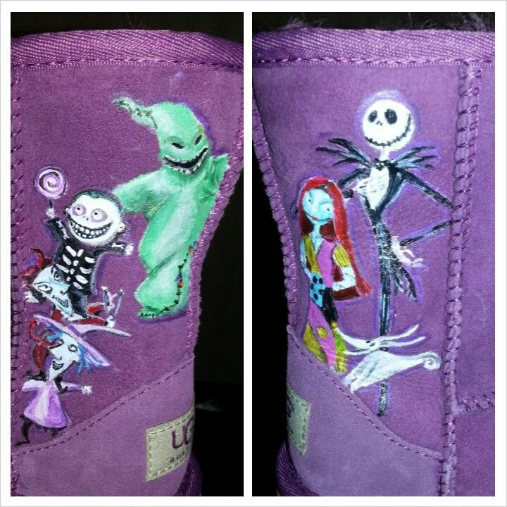 ... Burton's The Nightmare Before Christmas Custom Painted Shoes On Uggs