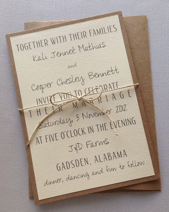 26 best wedding invitations images on Pinterest Invitations