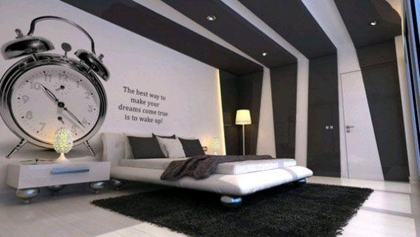 Оформление стен в спальне