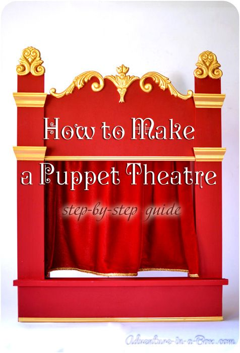 How-to-DIY Make a Puppet Theatre by adventure in a box #DIY