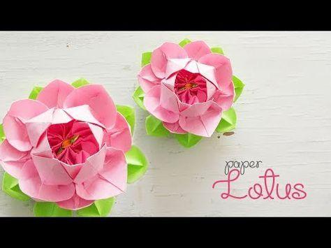 DIY Paper Lotus - YouTube