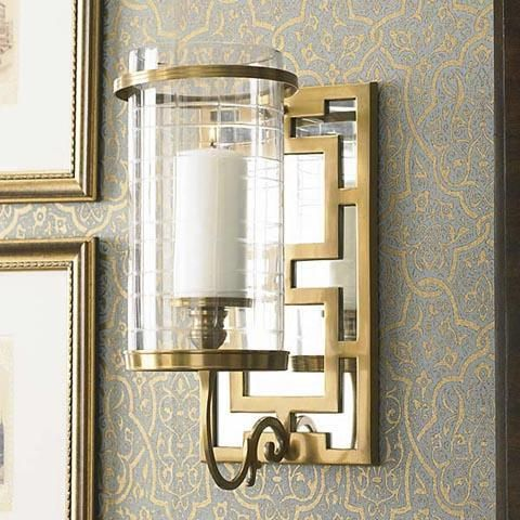 Superb Lighting   Lovely Mirrored Back Sconce With A Beautiful Brass Fretwork  Overlay. Good Ideas