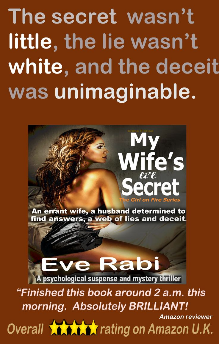 "#books #RomanticSuspense #Reading #GoodBooks #CrimeFiction #PinterestBooks #Kindle #CrimeThrillers...""Eve Rabi pulls no punches. The plot was slick and fast. I like the fact that she doesn't candy coat the ending, and I know I'll be reading more."" #books #EveRabi #womensfiction #SuspenseThrillers #FreeOnKindleUnlimited #CrimFiction #SuspenseNovels Amazon UK: http://www.amazon.co.uk/dp/B00PPI8T7I Amazon US: http://amzn.com/B00PPI8T7I Amazon Aus: http://www.amazon.com.au/dp/B00PPI8T7I Amazon…"