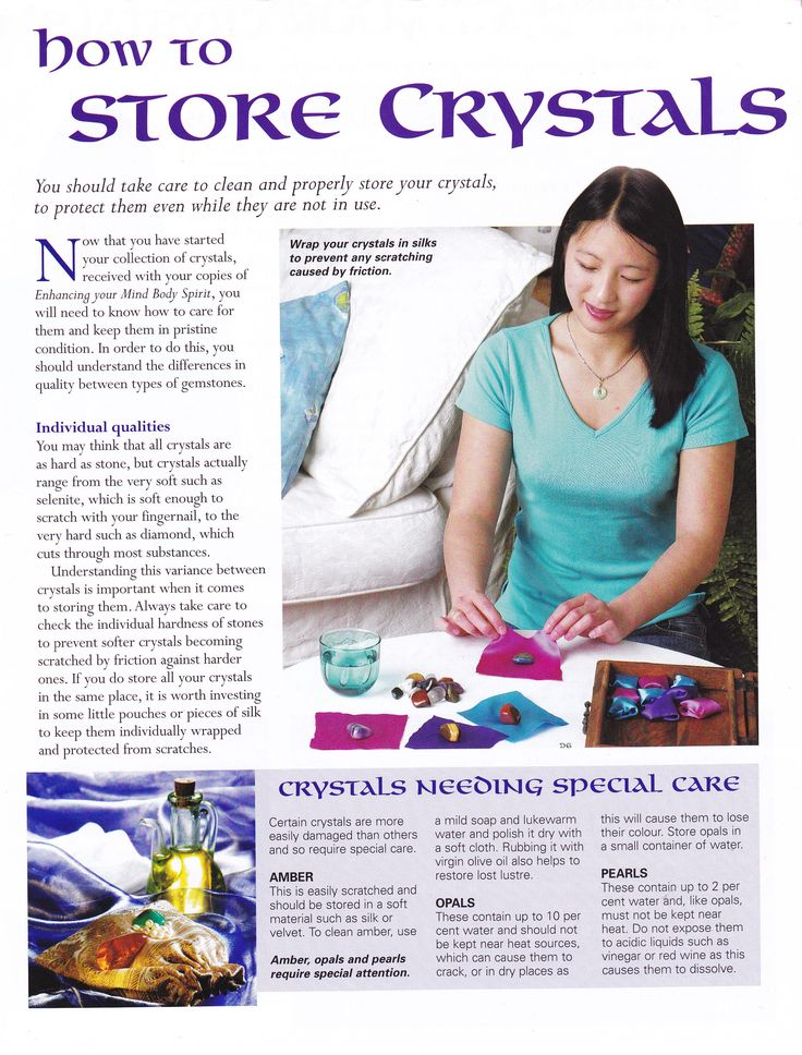 Crystals & Stones:  How to Store #Crystals.
