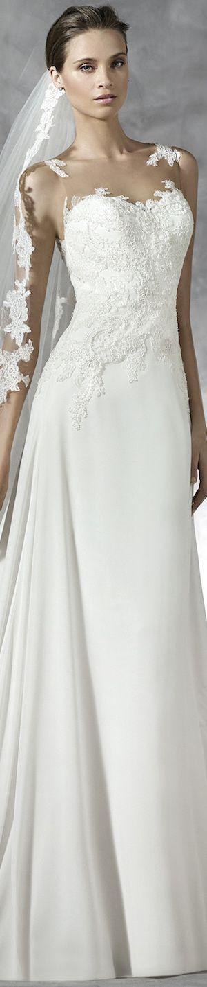 PRONOVIAS PRADAL WEDDING DRESS pinned by wedding accessories and gifts specialists http://destinationweddingboutique.com