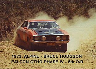 Bruce Hodgson Rally XA GTHO Phase IV - this car was written off in a road crash after it's rally career.