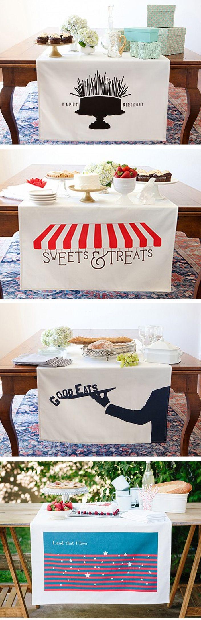 Table banners by Tin Parade on TheGrommet.com