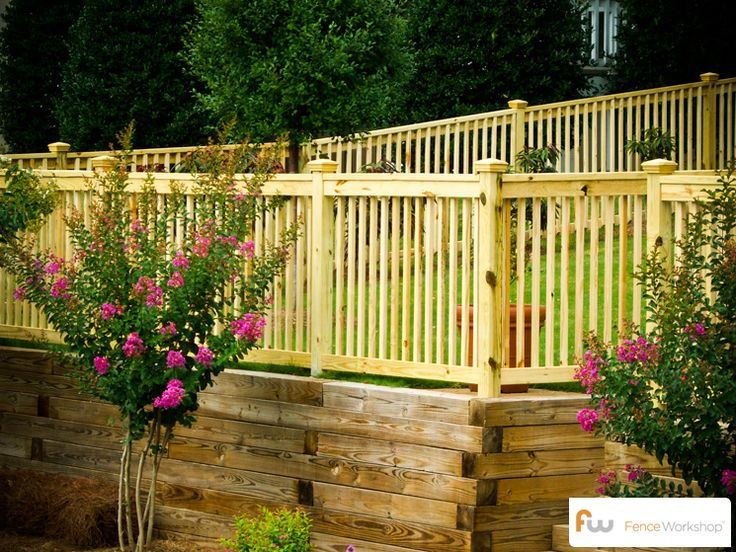 The Prince ™ Picture Frame Wood Picket Fence | Pictures & Per Foot Pricing