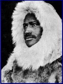 Hensen & Peary often recognised as first to North Pole April 9, 1909, though controversy whether they were first or made it at all . Hensen was african american and Peary initially received most of the glory as leader and first white man! There were also  four Innuit helpers -Ootah, Seegloo, Egingway, and Ooqueah ). Matthew Henson was only twelve when he walked from his home in Washington, D.C. to Baltimore, Maryland to get a job as a cabin boy on the three-masted merchant ship Katie Hines