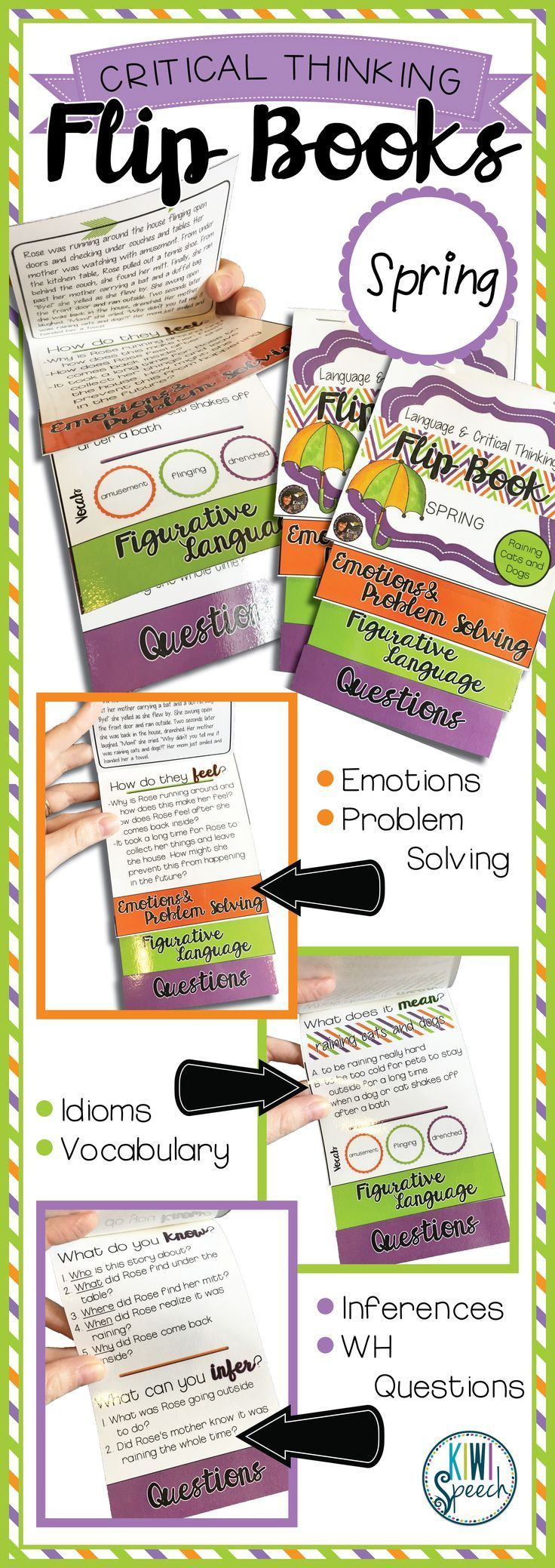 Critical Thinking & Higherlevel Language Flip Books {spring}