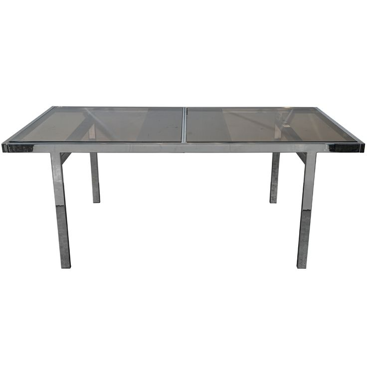 Milo Baughman Chrome Dining Table Dining Room Table