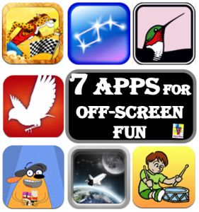 Can Apps Send Kids Off Screen?  - These are 7 kids apps give great off-screen fun #apps #kidsapps #kidsactivities