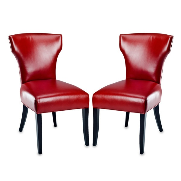 Safavieh Matty Red Leather Dining Chairs Set Of 2