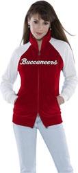 Touch by Alyssa Milano Tampa Bay Buccaneers Full Zip Velour Cheer Jacket