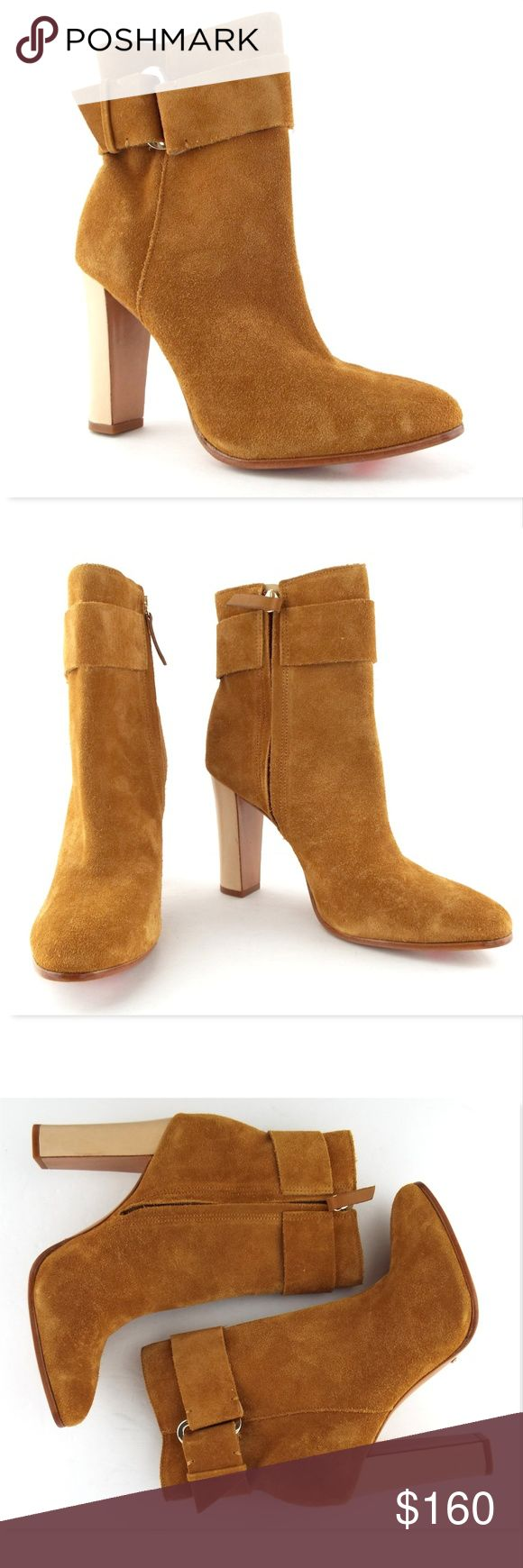 New SCHUTZ Hazel Suede Ankle Boots Booties 10 SCHUTZ 100% Authentic! Hazel Suede Ankle Boots Size 10 Medium US Made in Brazil New without box All actual photos of the item. Note a tiny minor finger nail scratch on heel. SCHUTZ Shoes Ankle Boots & Booties