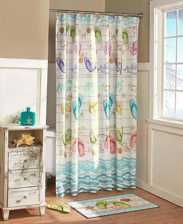 Bath Accessory Sets 176990: Tropical Look Flip-Flops Bathroom Collection Hooks Valance Rug And Much More -> BUY IT NOW ONLY: $30.65 on eBay!