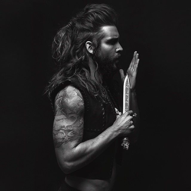"""Viking Man Bun Monday Viking Creative By @mathewguido Schwarzkopf Professional Artist Paul Perriera Styled by @paullangillpaul #manbun #viking…"""