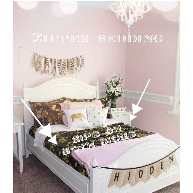 girl camo bedding zipper bedding with soft pinky interior zip your