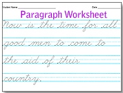 cursive writing sheets make your own Free printable cursive practice sheets practice writing cursive letters, sentences, and paragraphs with free cursive worksheets.
