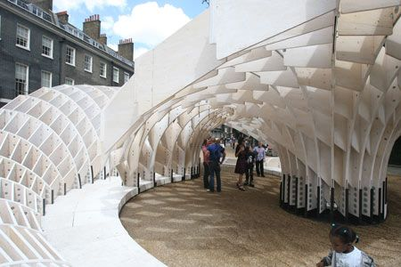 Swoosh Pavilion at the Architectural Association  15 July 2008