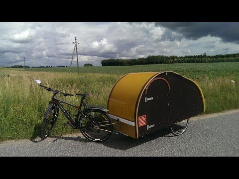 fahrrad wohnwagen the making and testing of a homemade teardrop bike trailer cycle camper erik straarup made this micro in 2016 when he retired dethleffs kaufen