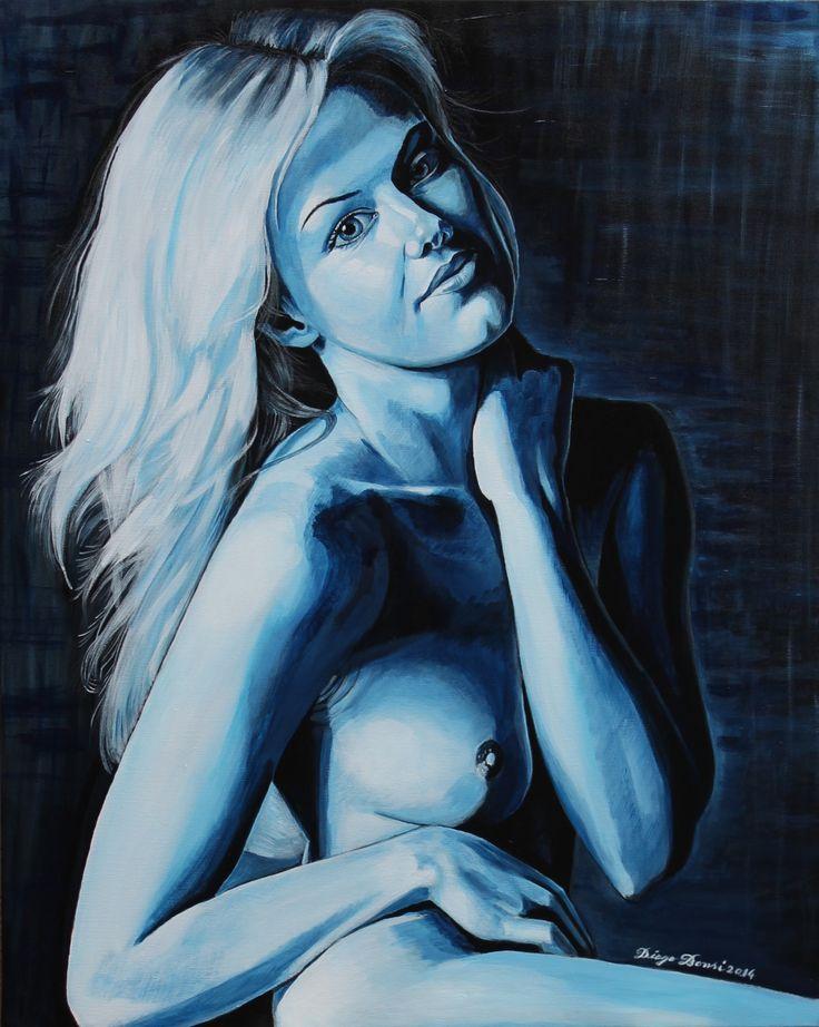 Diego Bonsi Blue dreams of Valentina (2014). Tecnica mista