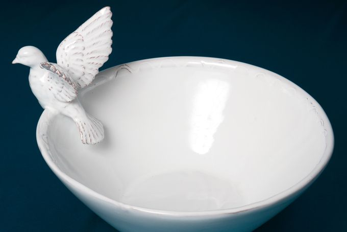 Flying Dove Contemporary Serving Bowl   by ceramix