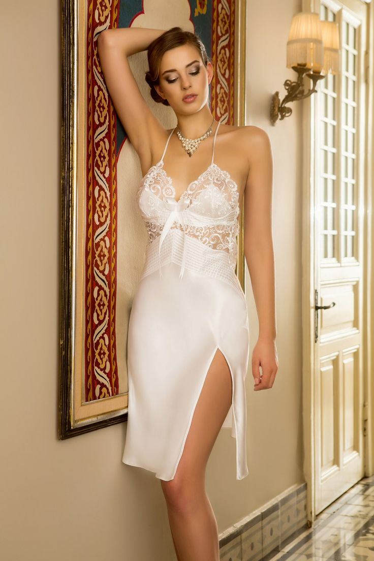 foto de 439 best silky white& red half slips images on Pinterest Nightgowns Shirts and Cook