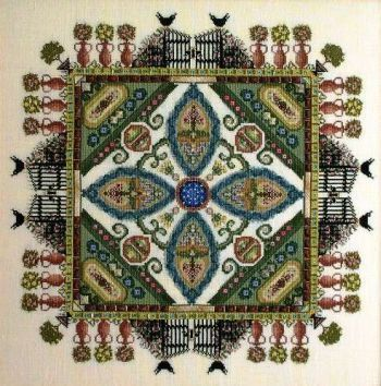 The Knotgarden Mandala Garden Cross Stitch Pattern by Chatelaine by GriffithGardens on Etsy