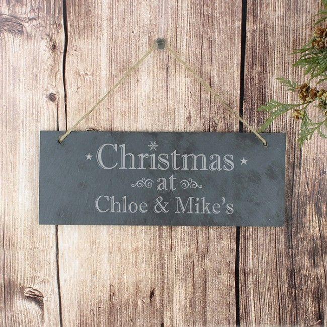 custom Christmas Door Sign