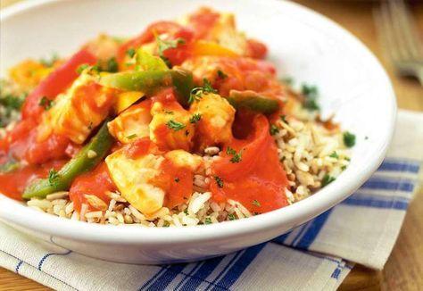 Vis, Paprika en rijst. Voor mij is het een succesformule voor lekker eten. Voedzaam, licht verteerbaar, weinig calorieën, eenvoudig te bereiden en erg lekker.