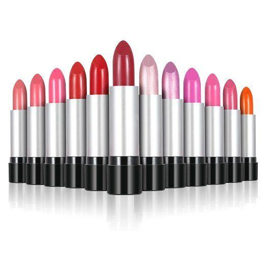 Abody 12Pcs / set Gloss The Balm Lip Rouge facile da indossare Rossetto 12 colori Moda Donna di trucco di bellezza
